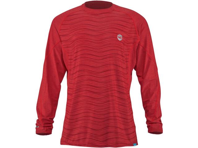 NRS H2Core Silkweight Camiseta Manga Larga Hombre, rojo